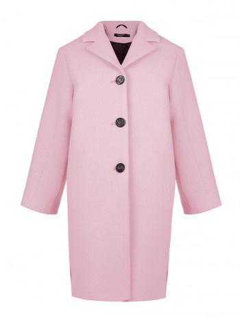 Пальто демисезонное розовое