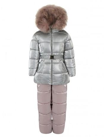 Зимний комплект для девочки (перламутр)